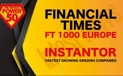 The Financial Times Ranks Instantor as The 2nd Fastest Grrowing Fintech in Sweden